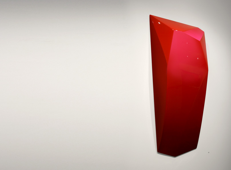 Blood Red Faceted Object, 1140x590x120mm
