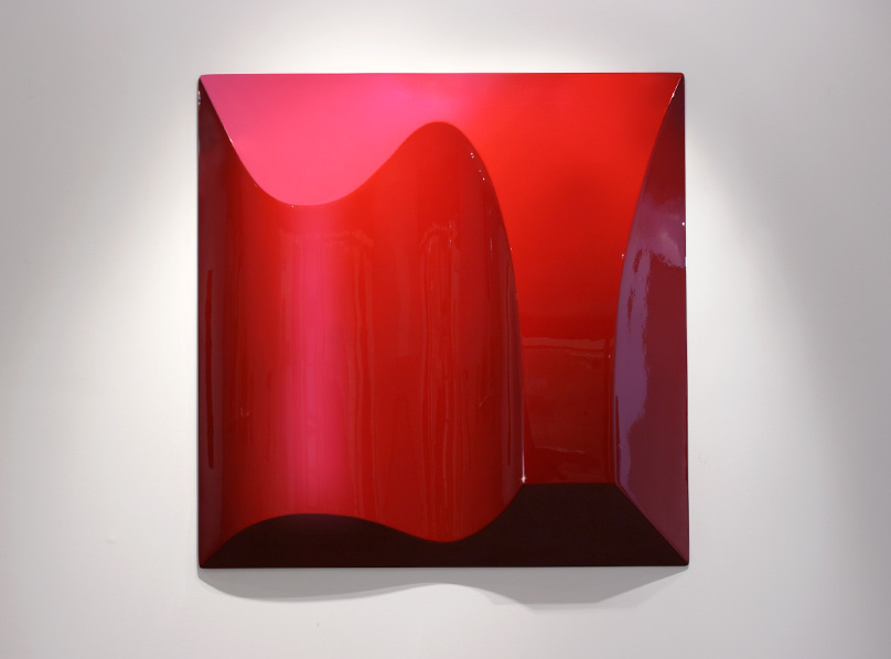 Blood Red Object, 1000x1000x100mm