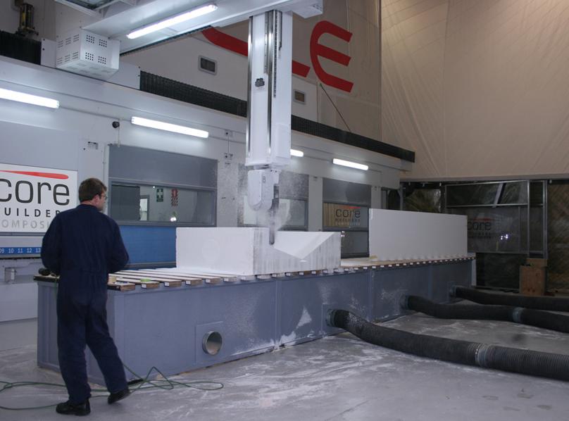 Foam core was cut by ORACLE, CORE Builders Composites
