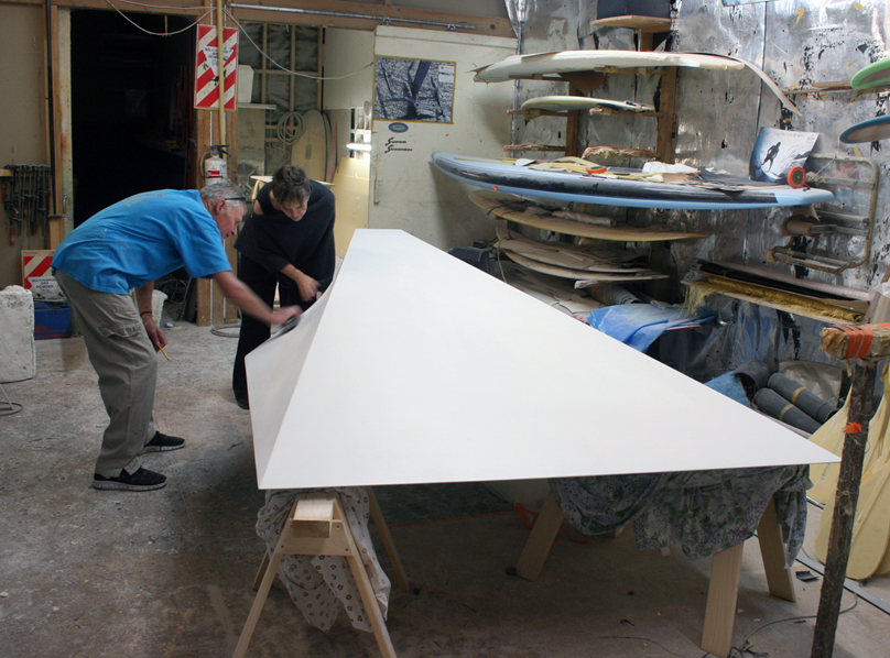 Fibreglass lamination by Graham Allen, Supersession Surfboards