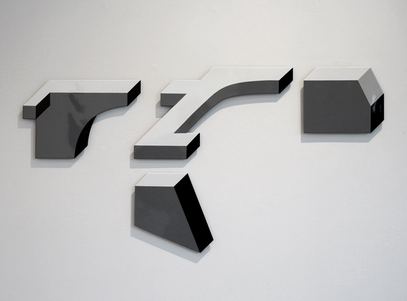Polygon Diagram #5, 1000x650mm enamel on laser-cut aluminium