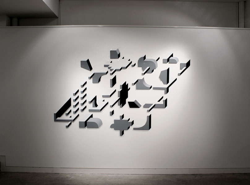 Pictorial Space, 2450x1450x10mm, enamel on laser-cut aluminium