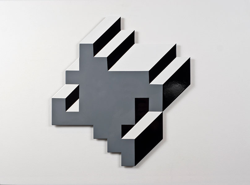 Material Polygon #3, 400x400mm enamel on laser-cut aluminium